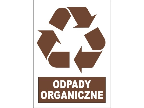 Naklejka - Odpady organiczne Nr 08