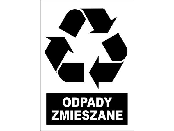 Naklejka - Odpady zmieszane Nr 05