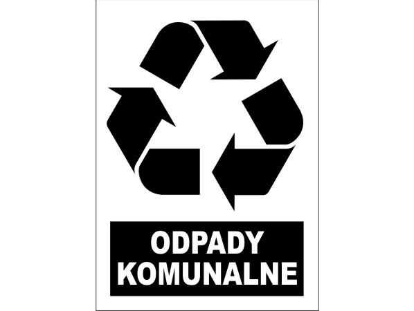 Naklejka - Odpady komunalne Nr 04